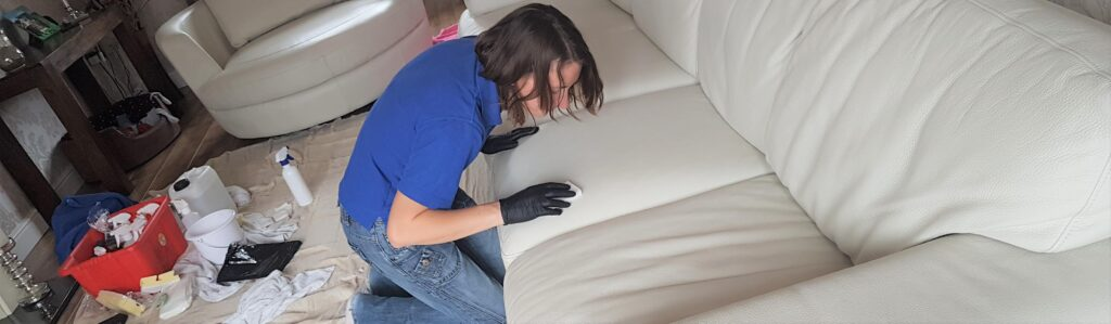 Professional leather cleaning in Pontefract